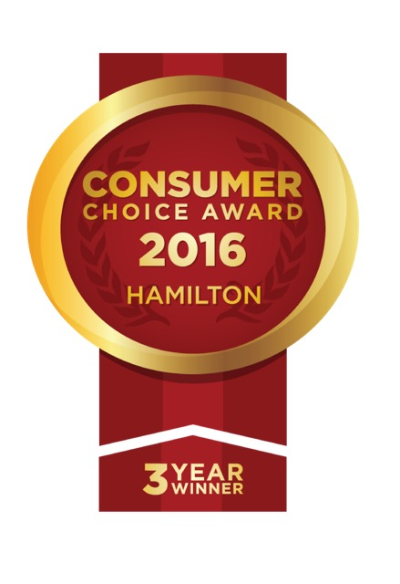 Consumer choice award 2016 Hamilton